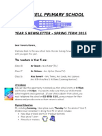 Newsletter Year 5 Spring 2015