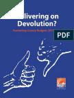 Delivering on Devolution? Evaluating County Budgets 2013-2014