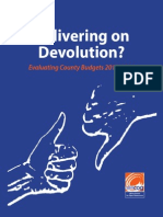 Delivering on Devolution? Evaluating County Budgets 2013-2014