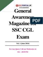 General Awareness Magazine Vol 1 June 2014 Www.sscportal.in