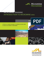 MM12-5 Introduction to Micromine (2011-07)