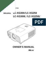 Eiki LG-XG250 Projector Manual