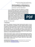 7. Theoretical Investigation on Determinants of Government-Linked Companies Capital Structure