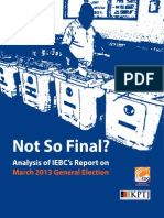 Not So Final? Analysis of IEBC's Report on March 2013 General Election
