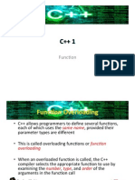 Functions of C++