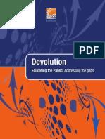 Devolution - Educating the Public