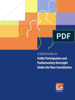 A Quick Guide to Public Participation and Parliamentary Oversight Under the New Constitution