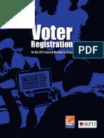 Voter Registration for the 2013 General Elections in Kenya