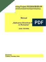 Manual Aplicarea Directivei IPPC