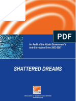 Shattered Dreams? An Audit of the Kibaki Government's Anti-Corruption Drive 2003 - 2007