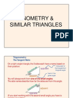 Similar Triangles & Trigonometry