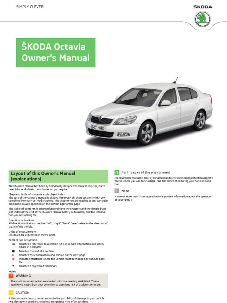 A5 Octavia Ownersmanual
