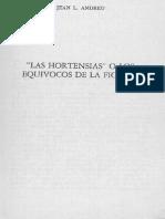 Andreu, Jean - Las Hortensias o los equívocos de la ficción