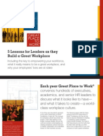 Lessons for Leaders - Whitepaper From Consulting