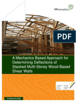 A Mechanics Based Approach for Determining Deflections of Stacked Multistorey Woodbased Shearwalls