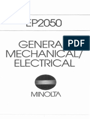 Minolta Copier Cspro 2050 Ep 2050 Parts And Service Manual Image Scanner Electrical Connector