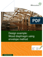 Design Example of Wood Diaphragm Using Envelope Method