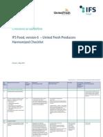 IFS Food UFP Harmonized Checklist JUNE2014 2
