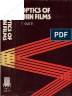 Knittel Optics Of Thin Films Text