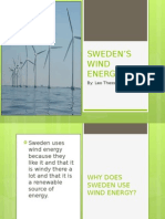 swedens wind energy