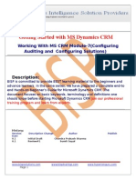 MS Dynamics CRM Module-7(Configuring Auditing and Configuring Solutions)