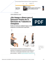 ¿Sin Tiempo o Dinero Para El Gimnasio_ Rutina de 12 Ejercicios en 7 Minutos Lo Reemplaza _ Pulzo