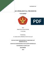 Referat standar operasional prosedur pelaksanaan otopsi