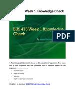 BUS 475 Week 1 Knowledge Check