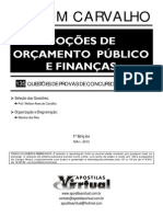 Noções de Orçamento Publico e Finanças
