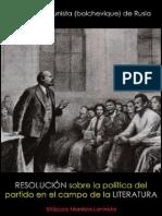 PC(b) de Rusia; Resolución sobre la política del partido en el campo de la literatura, 1925.pdf