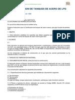 Certificacion de Tanques de Acero de Glp