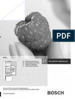 Bosch Siemens KDF Manual / Handbuch (KD32F / KD32F490)