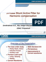 3 Phase Shunt Active Filter for Harmonic Compensation