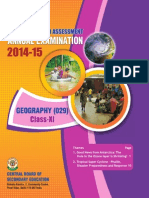 OTBA 2015 for Class 11 for Geography (English Version)
