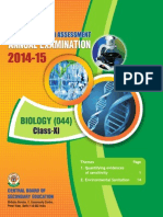 OTBA 2015 for Class 11 for Biology (English Version)