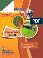 OTBA 2015 for Class 11 for Economics (English Version)