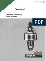 Annin Domotor Pneumatic Control Valve
