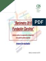 Barómetro 2010 Fundación Carolina