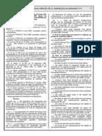 mise en œuvre de la déclaration de mise en confirmité des constructions