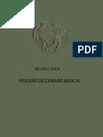 Pequeño Diccionario Musical