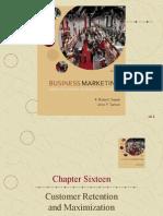 Chapter Sixteen Customer Retention and Maximization