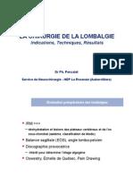 Chirurgie de La Lombalgie