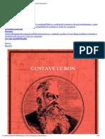 Gustave Le Bon - Psicología de La Revoluciones