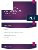 30 potential customers for fabulyzer