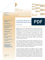 Can Hamas Moderate? Insights from Palestinian Politics during 2005-2011