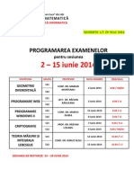 Examene Iunie 2014 Matematica Informatica