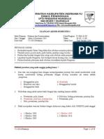 Soal UAS Prakarya Kelas X