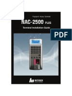 Nitgen NAC 2500 PLUS Fingerprint Access Controller Terminal Installation Manual