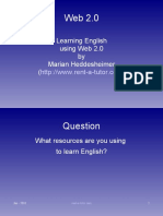 Learning English with Web 2.0 Tools