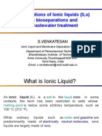 Application of Ionic Liquids for Bioseparation and Wastewater Treatment